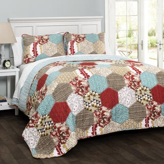 Lush Decor Grace 3-piece Patchwork Quilt Set