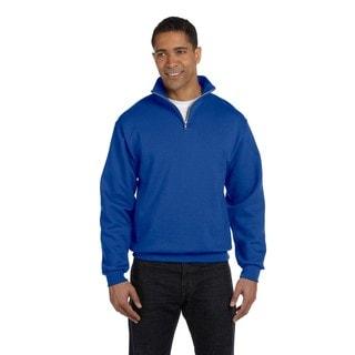 Men's 50/50 Nublend Royal Quarter-Zip Cadet Collar Sweatshirt