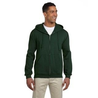 Men's 50/50 Super Sweats Nublend Fleece Forest Green Full-Zip Hood (XL)