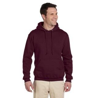 Men's 50/50 Super Sweats Nublend Fleece Maroon Pullover Hood()