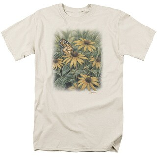 Wildlife/Monarch Butterfly Short Sleeve Adult T-Shirt 18/1 in Cream