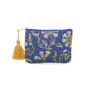 Handmade Kalini Coin Purse - Indigo (India)