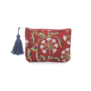 Handmade Kalini Coin Purse - Scarlet (India)