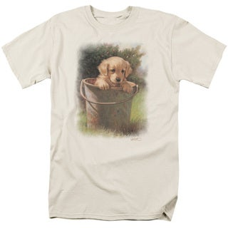 Wildlife/Bucket Baby Short Sleeve Adult T-Shirt 18/1 in Cream