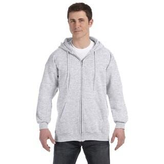 Men's Ultimate Cotton 90/10 Full-Zip Hood Ash Pullover Hood (XL)