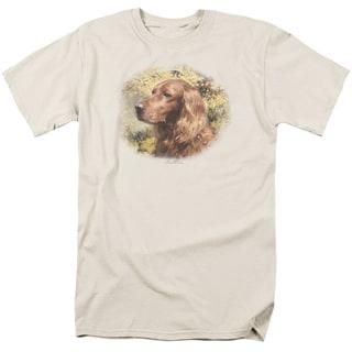 Wildlife/Irish Setter Head Short Sleeve Adult T-Shirt 18/1 in Cream
