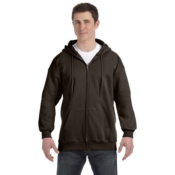 Mens Ultimate Cotton 90/10 Full-Zip Hood Dark Chocolate Pullover Hood (XL)