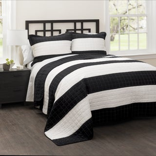 Lush Decor Stripe 3-piece Quilt Set