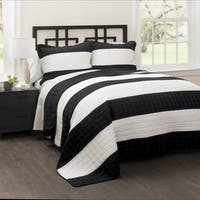 Carbon Loft Page Stripe 3-piece Quilt Set
