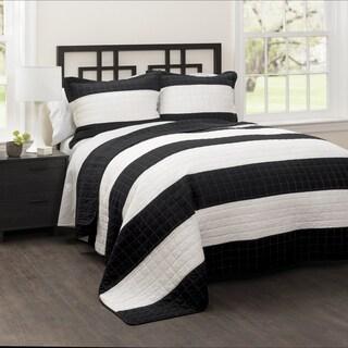 Carbon Loft Page Stripe 3-piece Quilt Set