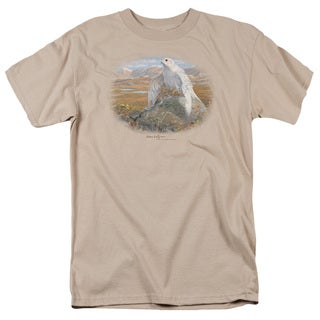 Wildlife/Gyrfalcon Short Sleeve Adult T-Shirt 18/1 in Sand