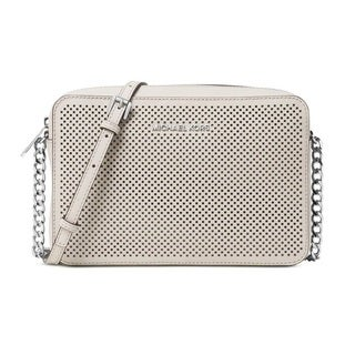 Michael Kors Jet Set Travel Large East West Perforated Crossbody - Cement