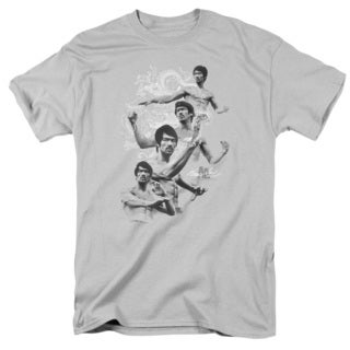 Bruce Lee/In Motion Short Sleeve Adult T-Shirt 18/1 in Silver