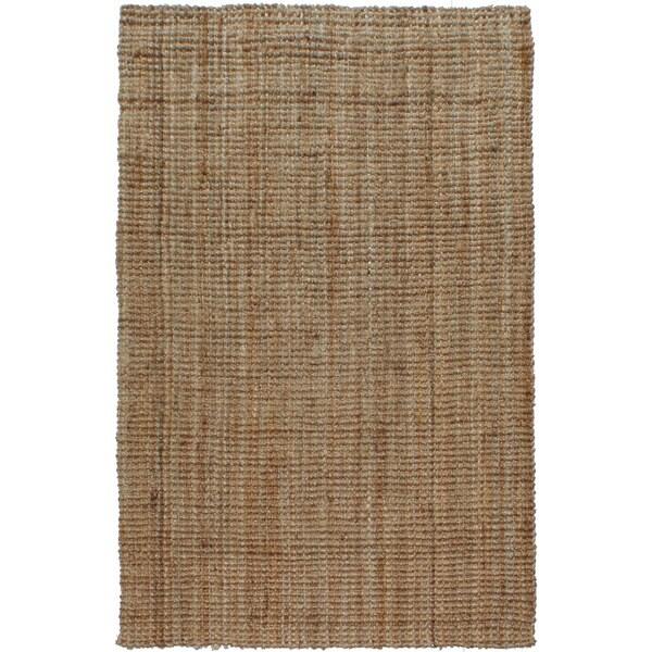Hand-spun Boucle Sand Jute Rug (8' x 10')