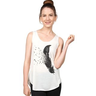 Silly Yeti Feather with Flying Birds Tank Top (Thailand)