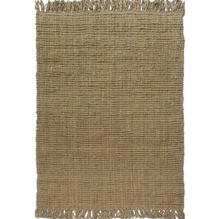 Handspun Boucle Sand Jute Rug With Fringes (8'X10')