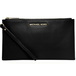 Michael Kors Bedford Large Zip Clutch - Black
