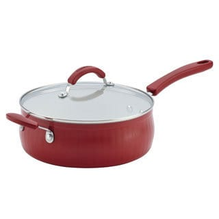 Farberware New Traditions Aluminum Nonstick 4-Quart Covered Sauté with Helper Handle