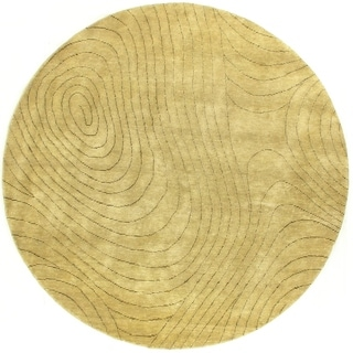Exquisite Rugs Metropolitan Beige New Zealand Wool Rug, (8' Round)