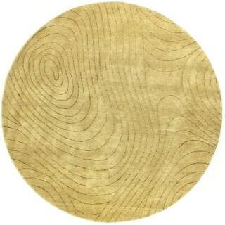 Exquisite Rugs Metropolitan Beige New Zealand Wool Round Rug (8' x 8')