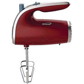 Brentwood Red 5-Speed Hand Mixer