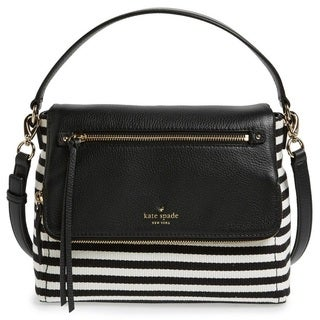 Kate Spade Cobble Hill Stripe Small Toddy - Black/Cream