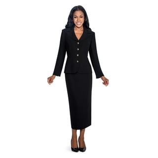 Giovanna Signature Women's Polyester 2-piece Skirt Suit (Option: 12)