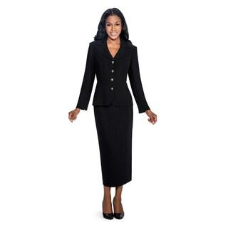Giovanna Signature Women's Polyester 2-piece Skirt Suit