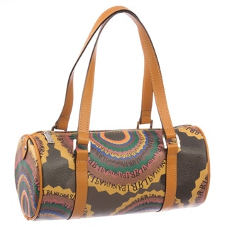 Ripani Time Cylinder Shaped Barrel Handbag