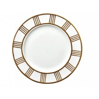 Lionel Richie Impulse Home London White China Salad Plate with Gold-banded Design (Set of 6)