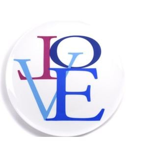 Lionel Richie Home Collection Blue China 'Love' Plate (Set of 4)