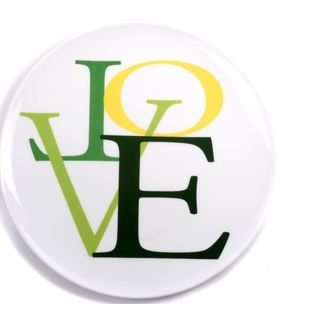 Love Small Green Plate (Set of 4)