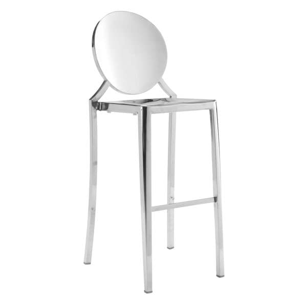 Eclispe Stainless Steel Bar Stools In Gold Or Silver Set Of 2