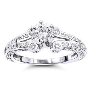 Luxurman 14k Gold 1 1/6ct TDW Designer Diamond Engagement Ring (G-H,SI1-SI2)