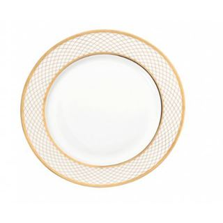 Lionel Richie Impulse Home Geneva White/Gold Bone China Bread and Butter Plates (Pack of 6)