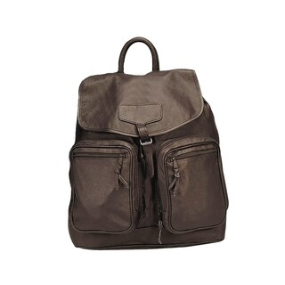 Goodhope Brown Leather Backpack