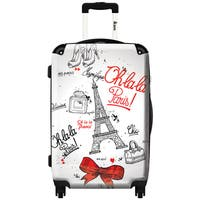 iKase 'Paris Chic'  Carry-on 20-inch Hardside Spinner Suitcase