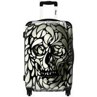 iKase 'Splash Skull'  Carry-on 20-inch Hardside Spinner Suitcase