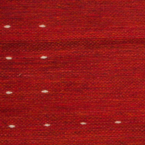 Handmade Fire in the Sky Red Zapotec Wool Rug (Mexico) - 2.5 x 5