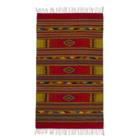 Zapotec wool rug A Thousand Stars 4x6.5 - Mexicow