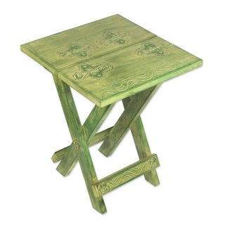 Handcrafted Wood 'Transformation' Folding Table (Ghana)
