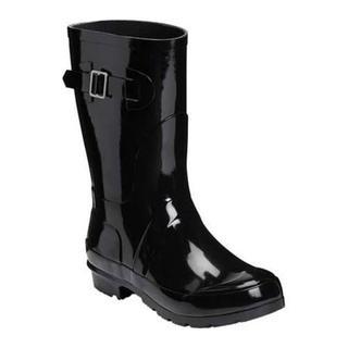 Women's Aerosoles Rain Date Rain Boot Black Rubber