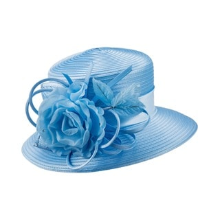 Giovanna Signature Women's Flower Trimmed Ribbon Hat