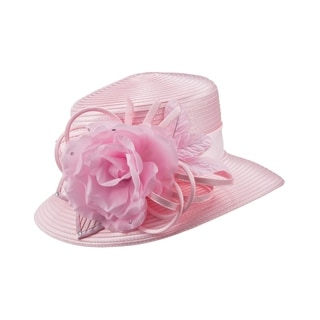 Giovanna Signature Women's Flower Trimmed Ribbon Hat