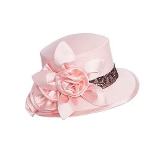 Ella Belle Women's Contrast Lace-trim Hat