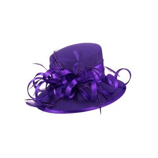 Giovanna Signature Women's Feather and Ribbon Hat