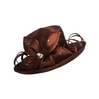 Giovanna Signature Women's Wide-brim Ribbon Hat