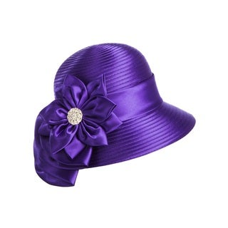 Giovanna Signature Women's Flower-trimmed Ribbon Hat