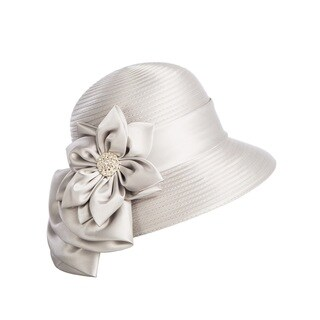 Giovanna Signature Women's Flower-trimmed Ribbon Hat
