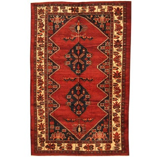 Herat Oriental Afghan Hand-knotted 1960s Semi-antique Tribal Balouchi Wool Rug (6'7 x 10'1)